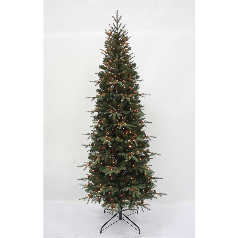 Cele Tions Clear Prelit 7 Ft Lexington Slim Artificial Tree  903 Pe