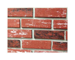 Z-Brick  8 in. H x 2.25 in. W 3-1/2  Face Brick  3-1/2 sq. ft. Used  Red