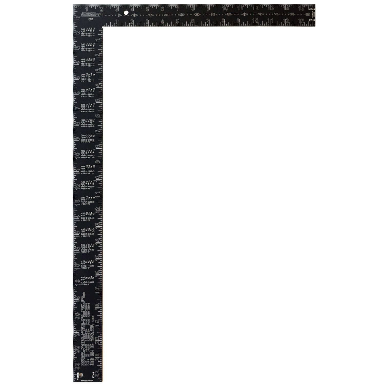 Johnson  16 in. L x 24 in. H Aluminum  Framing Square