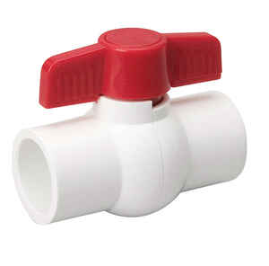 Mueller  1 in. PVC  Solvent  Ball Valve