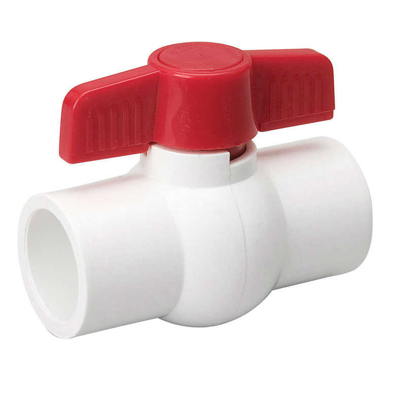 Mueller  Ball Valve  1 in. Dia. x slip   x 1 in. Dia. slip  PVC  Ball