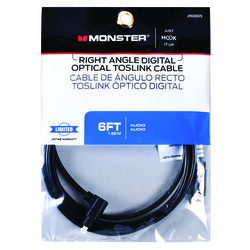 Monster Cable  Just Hook It Up  6 ft. L Digital Optical Toslink Cable  Digital Optical