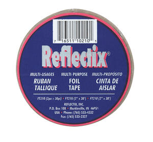 Reflectix  2 in. W x 30 ft. L Reflective  Radiant Barrier  Foil Tape Insulation  Roll  5 sq. ft.