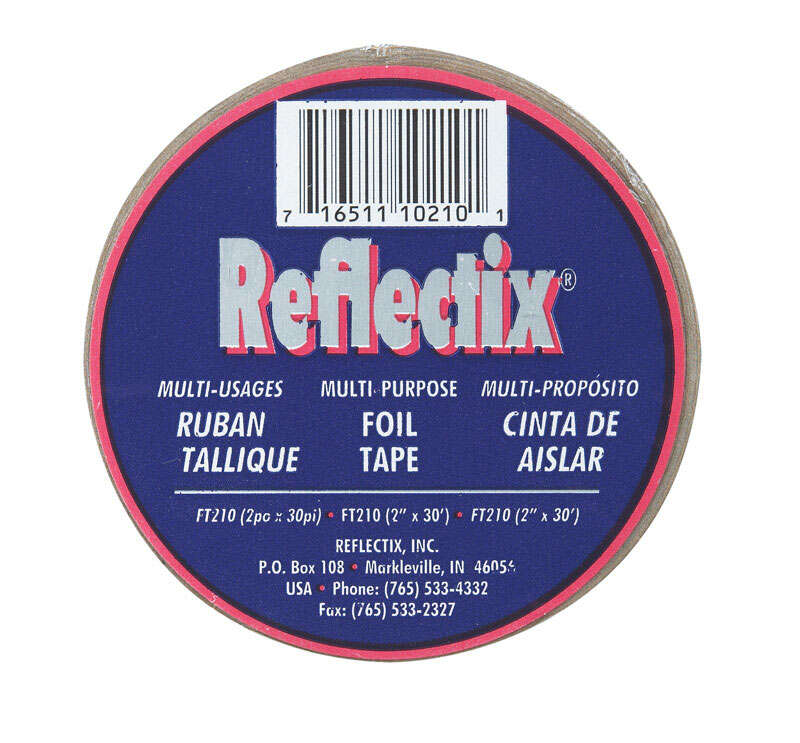 Reflectix  2 in. W x 30 ft. L Reflective  Radiant Barrier  Foil Tape Insulation  Roll