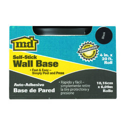 M-D  4.5 in. H x 6.25 ft. L Prefinished  Black  Vinyl  Wall Base