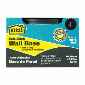 M-D Building Products  1/8 in. L Prefinished  Black  Vinyl  Wall Base
