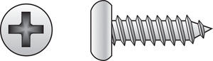 Hillman  10 in.  x 3/4 in. L Phillips  Pan Head Zinc-Plated  Steel  Sheet Metal Screws  100  1 pk