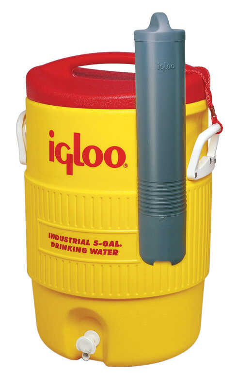 Igloo  Water Cooler  5 gal. Red/Yellow