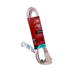 Ace  14/3 SPT-3  125 volt 9 ft. L Appliance Cord