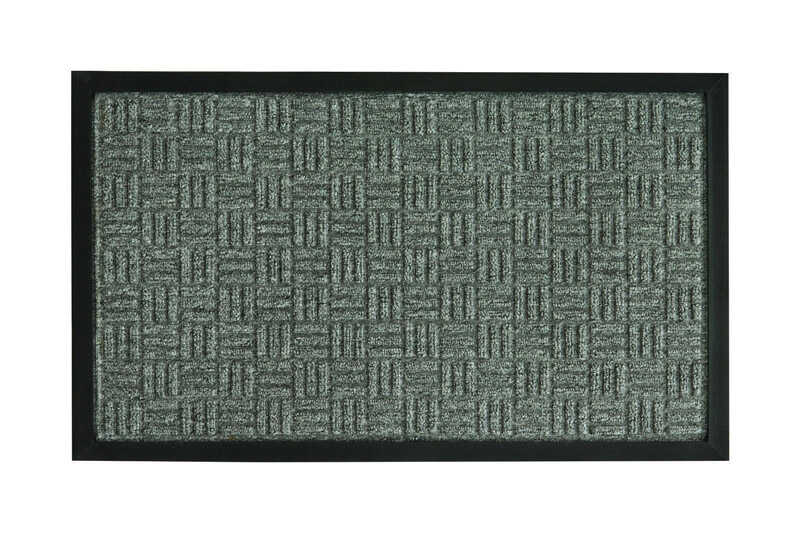Bacova Guild Floor Saver Ii Gray Coir Nonslip Floor Mat 36