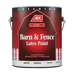 Ace Flat White Barn and Fence Paint Exterior 1 gal.