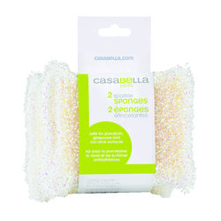 Casabella  Delicate, Light Duty  Cleaning Pad  For Multi-Purpose 4 in. L 2 pk
