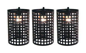 Living Accents  Large Metal Lantern  Clear  Light Set  7.5 ft.