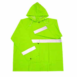 Boss  Green  PVC  Rain Jacket  M