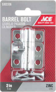 Ace  0.62 in. L Zinc  Barrel Bolt  1 pk
