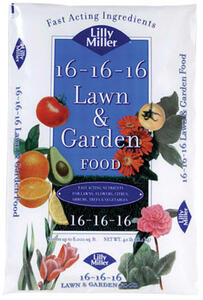 Lilly Miller  16-16-16  Lawn Fertilizer  For Mixed 40 lb. 4000 sq. ft.