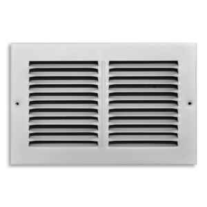 Tru Aire  6 in. H x 1/4 in. D Steel  Return Air Grille  1-Way  White  Powder Coat