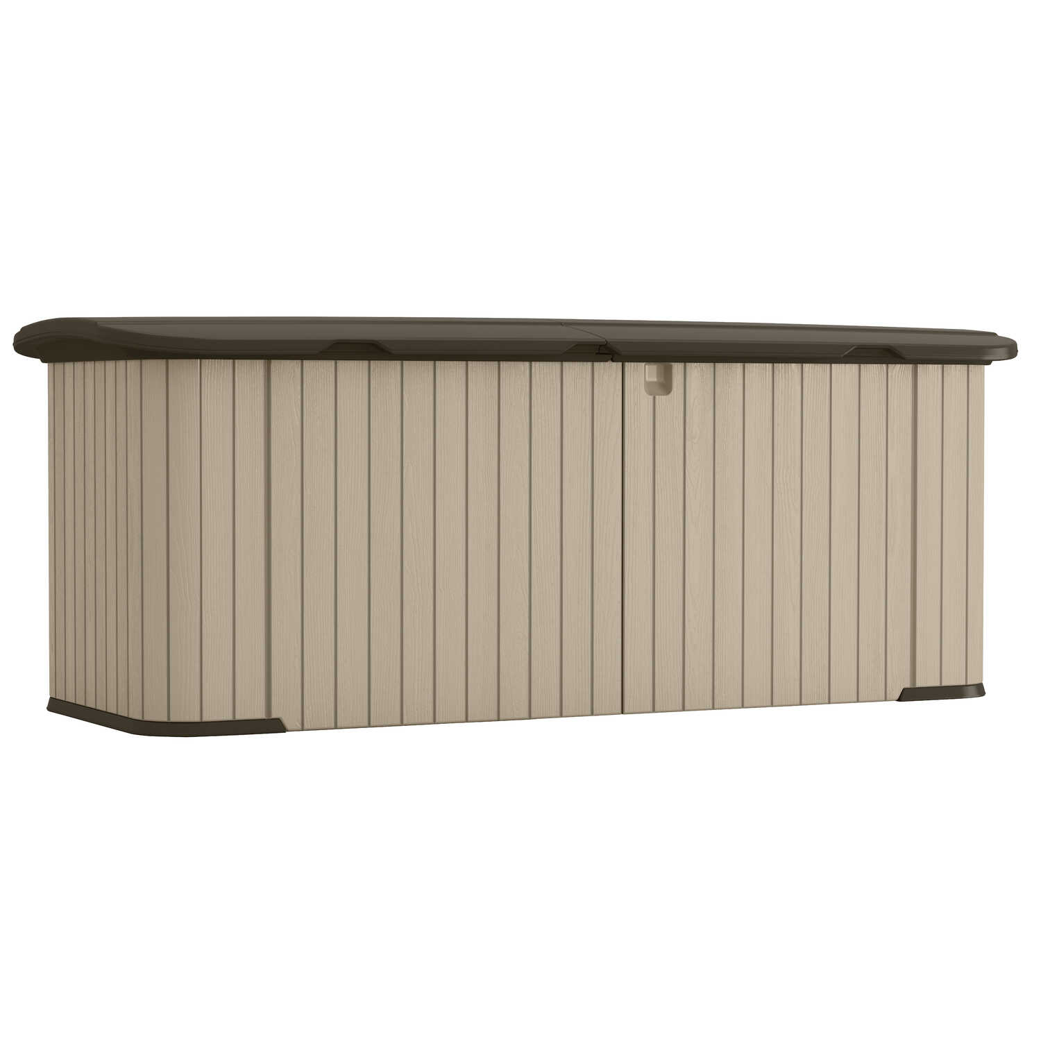 Suncast  34 in. H x 88 in. W x 36 in. D Plastic  Outdoor Storage Shed  Beige