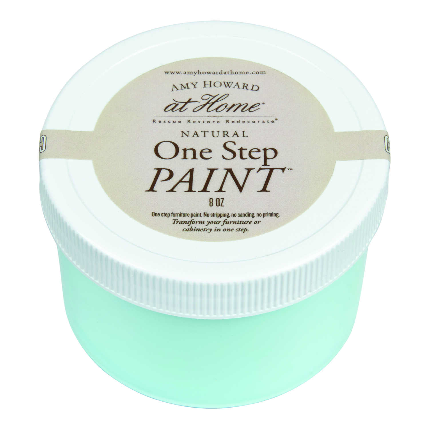 Amy Howard at Home  Flat Chalky Finish  8 oz. Tick Tock Blue  One Step Paint