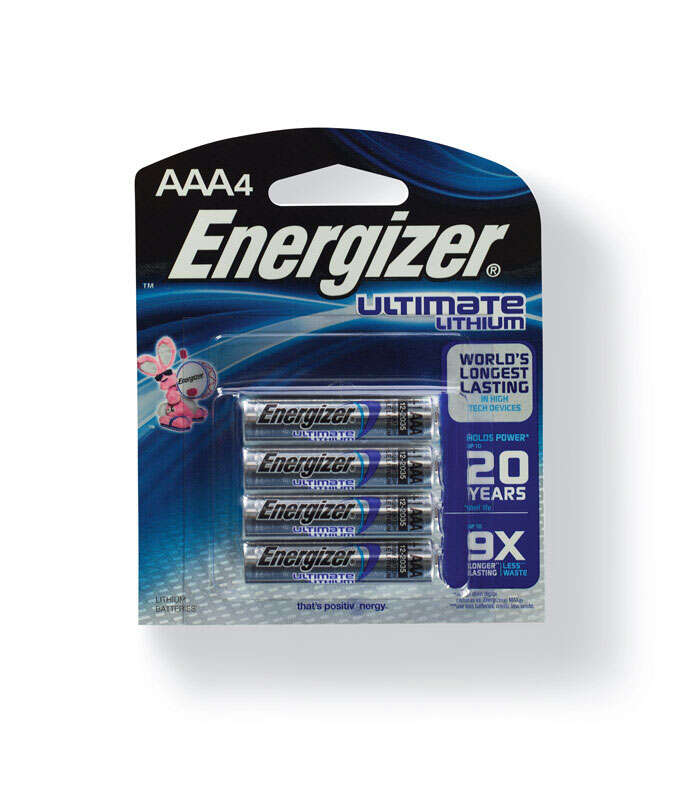 Energizer Battery AAA 1.5 volts  Lithium Ion L92BP-4 Digital Cameras and Handheld Gps Devies Pack 4