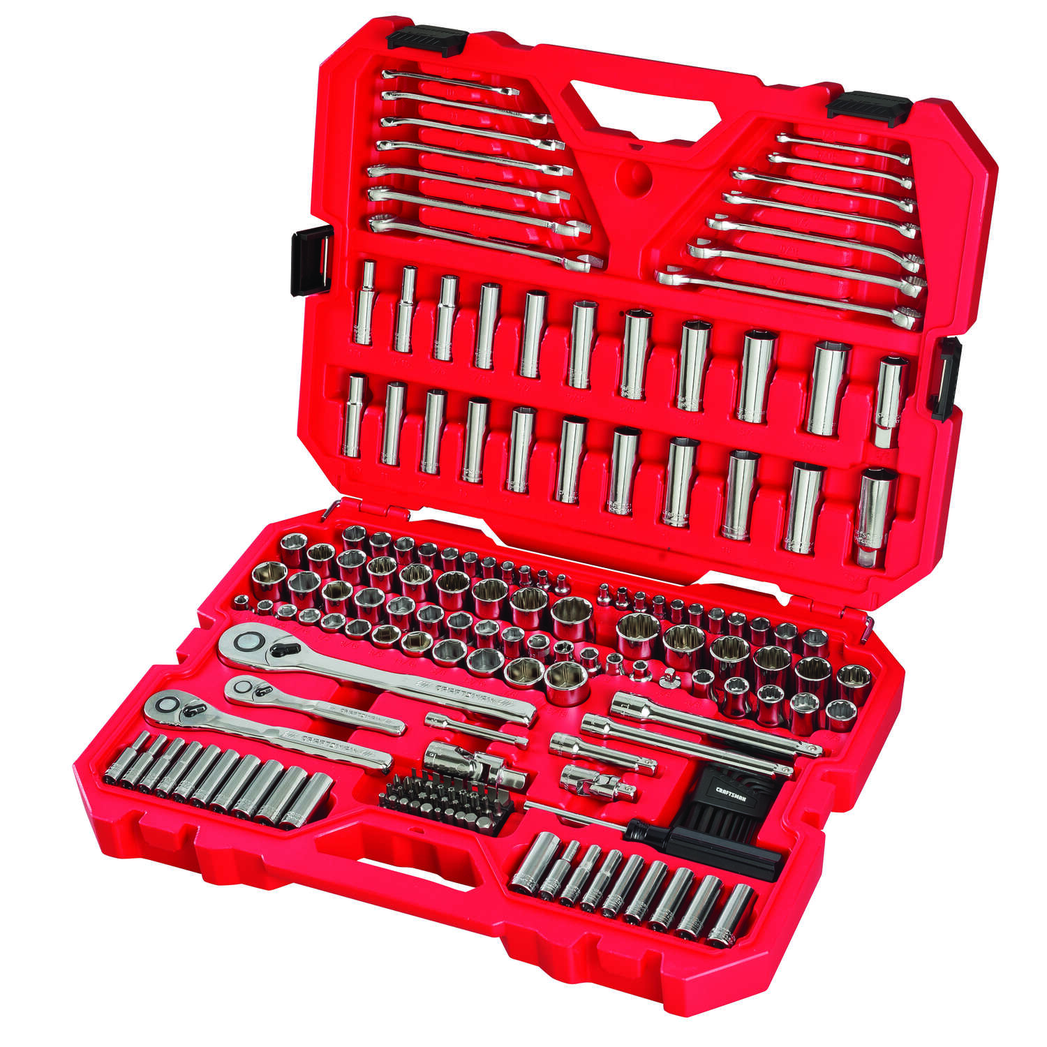 Craftsman  1/4, 3/8 and 1/2 in. drive  Metric and SAE  6 and 12 Point Mechanic's Tool Set  189 pc.
