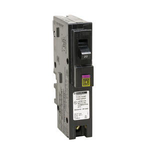 Square D  HomeLine  20 amps Arc Fault/Ground Fault  Single Pole  Circuit Breaker