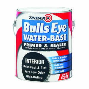 Zinsser  Bulls Eye  Flat  White  Primer and Sealer  For All Surfaces 1 gal.