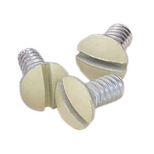 Leviton  Ivory  Steel  Wall Plate Screws  20 pk