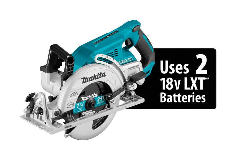 Makita X2 LXT 7-1/4 in. 18 volt Cordless Rear Handle Circular Saw 5100 rpm