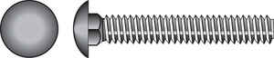 HILLMAN  3/8  Dia. x 3 in. L Hot Dipped Galvanized  Steel  Carriage Bolt  50 pk