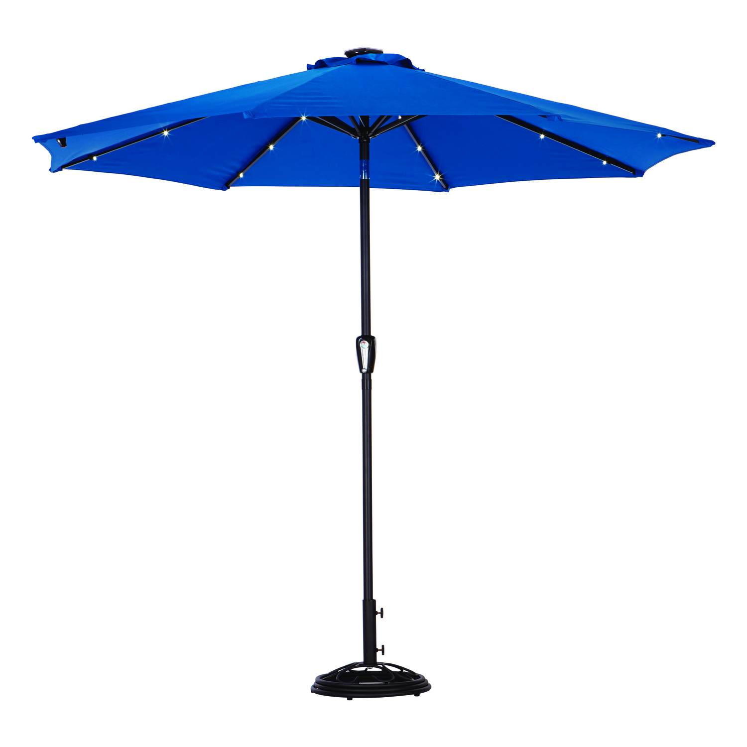 Tiltable Royal Blue Patio Umbrella - Living Accents MARKET 9 Ft. Tiltable Royal Blue Patio Umbrella - Ace