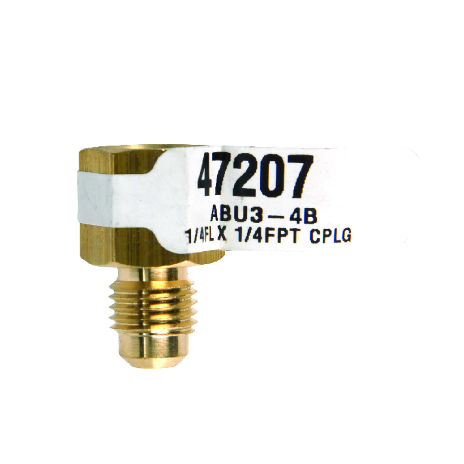 JMF  1/4 in. Flare   x 1/4 in. Dia. Female  Brass  Flare Adapter