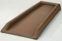 Genova  2 in. H x 11 in. W x 23.5 in. L Brown  Plastic  Splash Block