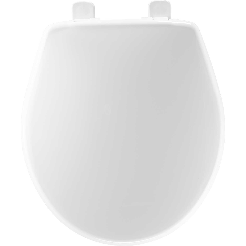 Mayfair Slow Close Round White Plastic Toilet Seat Ace