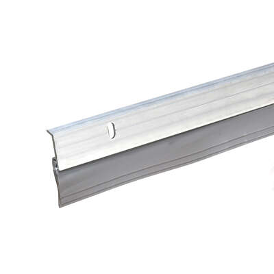 Frost King Thermwell Products 1-3/4 in. W x 36 in. L Bright Aluminum Door Threshold Silver
