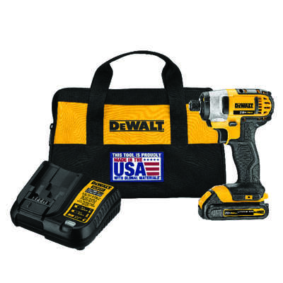 DeWalt  20V MAX  20 volt 1/4 in. Cordless  Brushed  Impact Driver  Kit (Battery & Charger)