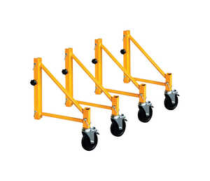 Metaltech  Steel  Yellow  Work Platform  1000 lb.