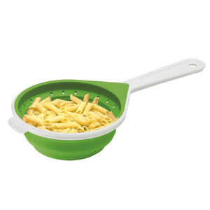 Chef'n  SleekStor  6 in. W x 15-1/4 in. L Green/White  Plastic  Collapsible Colander  1 pk
