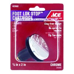 Ace  Foot Lok Stop Cartbidge  3/8 in. Dia. Polished  Chrome  Drain Stopper
