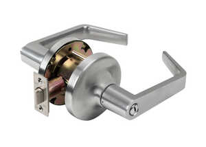 Tell  Cortland  Satin Chrome  Steel  Storeroom Lockset  ANSI Grade 2  2 in.