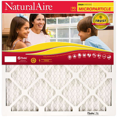 NaturalAire  24 in. W x 24 in. H x 1 in. D Synthetic  10 MERV Pleated Microparticle Air Filter