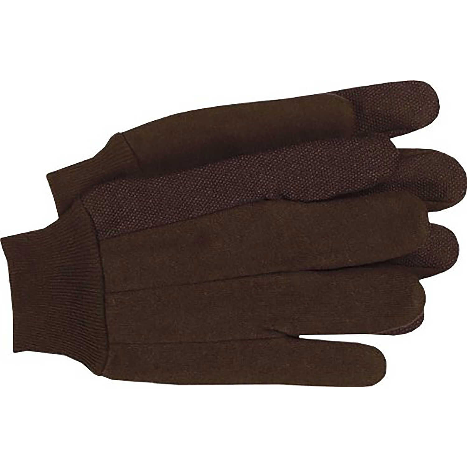 Boss  Men's  Indoor/Outdoor  Jersey  Dotted Palm  Work Gloves  Brown  XL