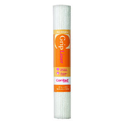 Con-Tact Brand  Grip  5 ft. L x 12 in. W White  Non-Adhesive  Shelf Liner