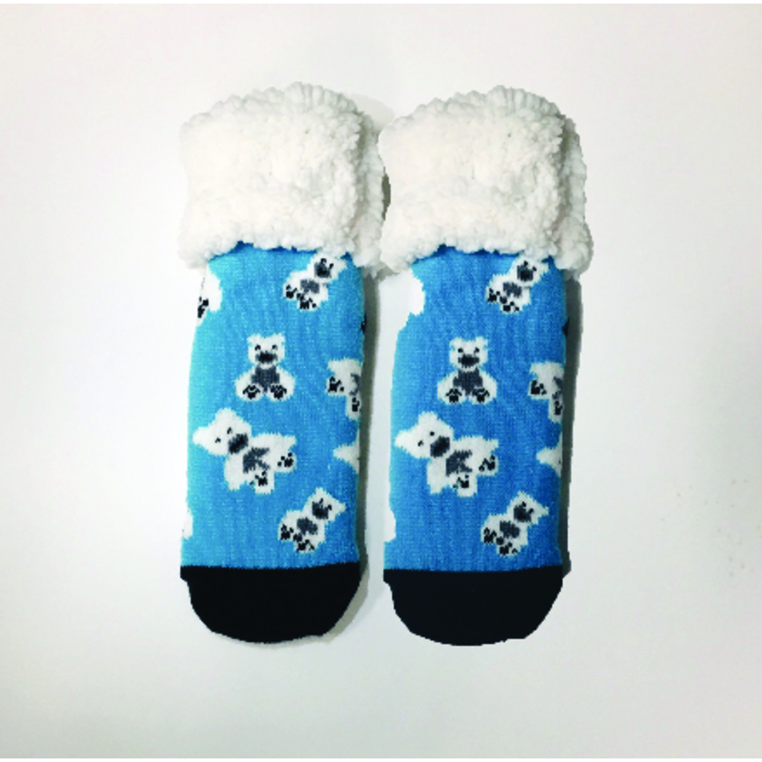 Pudus  Polar Bear  Slipper Socks  Acrylic/Polyester  1 pair