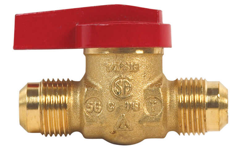 B & K  Gas Ball Valve  Brass