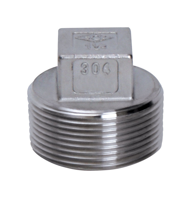 Smith Cooper  1-1/4 in. MPT   x 1-1/4 in. Dia. MPT  Stainless Steel  Square Head Plug