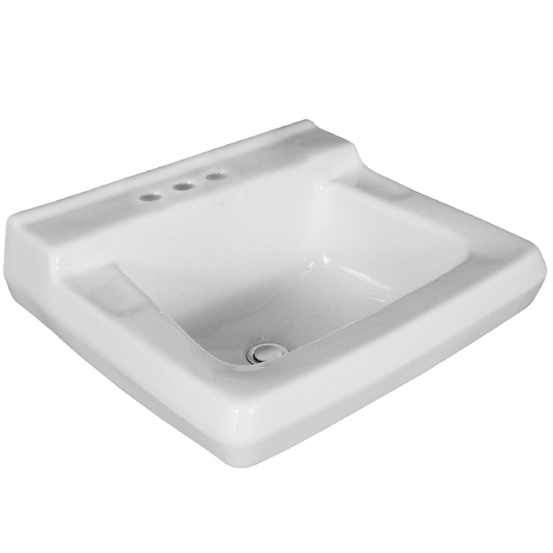 Mansfield  Willow Run  Rectangular  19.5 in. Wall Mount Lavatory  White