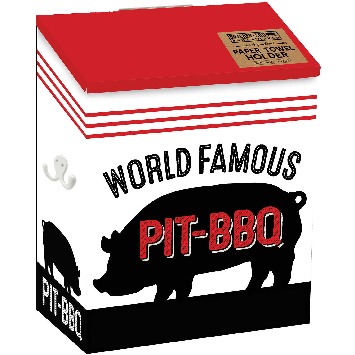 Open Road Brands  Butcher Baker BBQ Maker  World Famous Pit-BBQ  Paper Towel Holder  Tin  1 pk