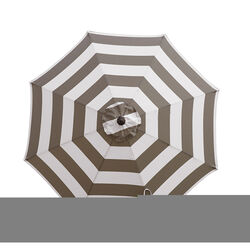 Living Accents 9 Tiltable Tan Stripe Market Umbrella
