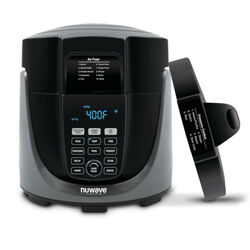 NuWave Duet Black 6 qt. Programmable Digital Air Fryer w/Pressure Cooker